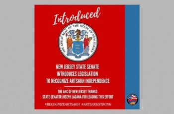 ԱՄՆ Նիւ Ջերսի նահանգի սենատը Արցախի Հանրապետութեան անկախութիւնը ճանաչելու վերաբերեալ օրինագիծ է ներկայացրել